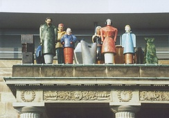 Installation by Thomas Schütte during Documenta IX, 1992