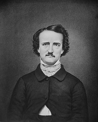 "Poe, in a modern retouched version of the ""Ultima Thule"" daguerreotype"