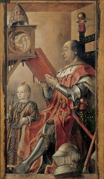 Federico da Montefeltro and His Son Guidobaldo (c. 1475), by Justus van Gent or (and) Pedro Berruguete