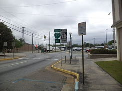 Southern terminus of SR 7 Alt. at North Patterson Street and West Magnolia Street