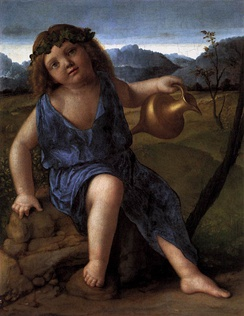 The Infant Bacchus, painting (c. 1505–1510) by Giovanni Bellini.