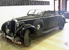 Another of Heydrich's Mercedes 320 Cabriolet B cars, similar to the one in which he was mortally wounded (currently in the Military History Museum in Prague), the original being located at Egholm Museum, Denmark.[22]