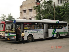 Isuzu LV486R CNG City Bus in Bangkok with the CNG-MPI Engine