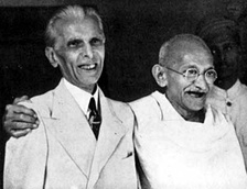 Jinnah with Gandhi, 1944.