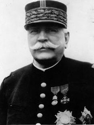 A photograph of Joseph Joffre, Commander-in-Chief for most of the war, taken before 1918.