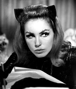 Julie Newmar as Catwoman in the first and second seasons (1966–1967) of the show