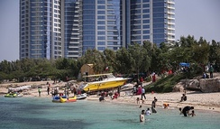 More than a million tourists visit Kish Island each year.[337]