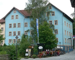The Kulmbacher Genossenschaftsbrauerei common brewery in an old mill