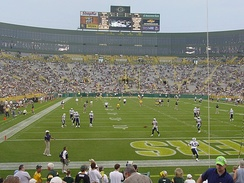Tennessee at Green Bay in the preseason; both teams made the playoffs