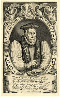 Portrait of Andrewes by Simon de Passe. Engraving