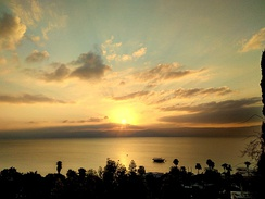 Sunrise over the Sea of Galilee from the Oasis d'Emmanuel - Tibériade