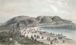 A popular Victorian seaside resort. Llandudno, 1856