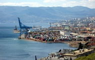 Port of Rijeka, the largest cargo port in Croatia