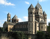 Maria Laach Abbey, situated on the southwestern shore of the Laacher See (Lake Laach), near Andernach (Germany), built in the 11th-12th centuries