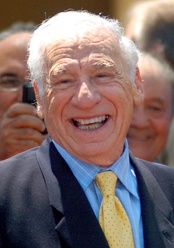 Mel Brooks in 2010 at a ceremony to give him a star on the Walk of Fame.