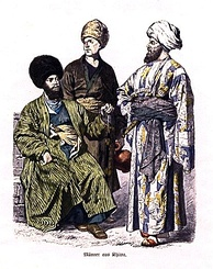 Uzbek men from Khiva, ca. 1861–1880