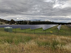 The Mount Majura Solar Farm has a rated output of 2.3 megawatts and was opened on 6 October 2016.[311]