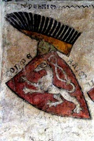 The oldest depiction of coat of arms of Bohemia, castle Gozzoburg in Krems