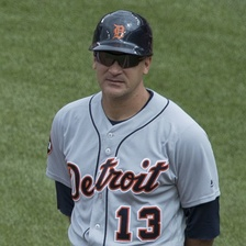Vizquel as first-base coach of the Detroit Tigers in 2017