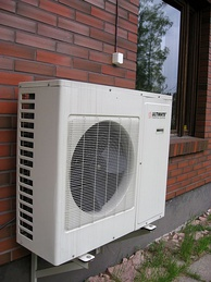 Outside unit of an air-source heat pump