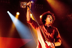 Zack De La Rocha of Rage Against The Machine performs at Voodoo 2007