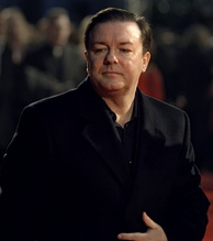Gervais at the 60th British Academy Film Awards in 2007