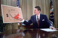 Outlining his plan for Tax Reduction Legislation from the Oval Office in a televised address, July 1981