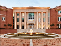 Shelby Hall,  College of Engineering and the School of Computer and Information Sciences, at the University of South Alabama.