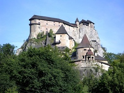 Castle – a traditional symbol of a feudal society (Orava Castle in Slovakia).