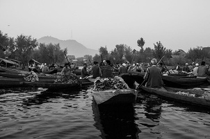 The floating vegetable market on Dal Lake, the only one of its kind in India