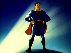Superman's first cinematic appearance was in animated theatrical shorts first produced by Fleischer Studios.