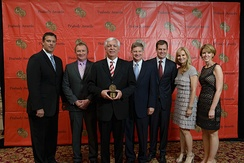 "Bryan Staples, Kevin Wisniewski, Phil Williams, Ben Hall, Iain Montgomery, Sandy Boonstra and Michelle Bonnett of News Channel 5 at the 73rd Annual Peabody Awards for ""Questions of Influence."""