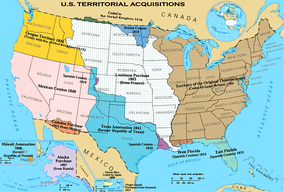 National Atlas map of United States territorial acquisitions