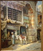 Moroccan Market Scene by Louis Comfort Tiffany, undated