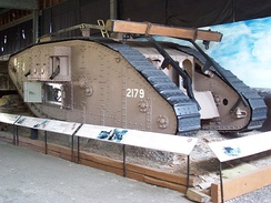 The Mark IV tank in the museum