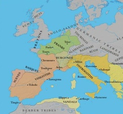 Germanic Kingdoms in Europe c. 500 AD