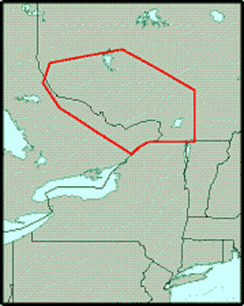 Location of the Western Quebec Seismic Zone