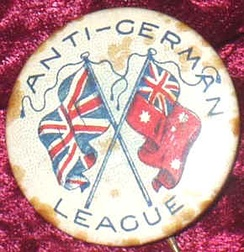 A 1915 Australian badge reflecting the Anti-German sentiment at the time