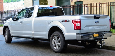 F-150 XLT SuperCab rear, showing new tailgate
