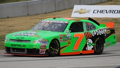 Danica Patrick driving the No. 7 in the 2012 Sargento 200