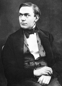 Alfred Nobel at a young age in the 1850s