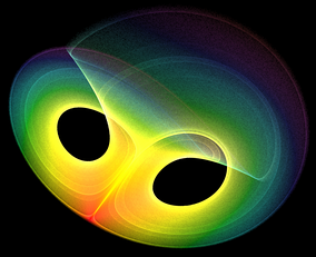 A strange attractor arising from a differential equation. Differential equations are an important area of mathematical analysis with many applications to science and engineering.