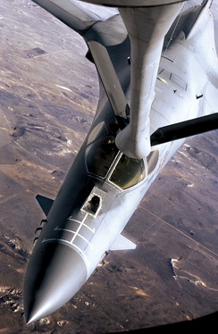 B-1 Lancer from the 319th refueling