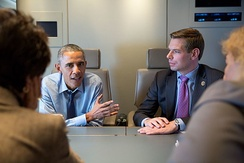 Swalwell meets with President Barack Obama on February 12, 2015.