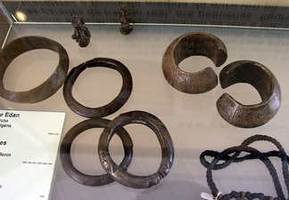 Yoruba metal bracelets and jewellery of old. Collection of The Afro-Brazilian museum of Salvador, Bahia
