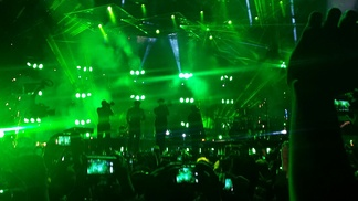 Mars and his band at the Arena Ciudad de Mexico