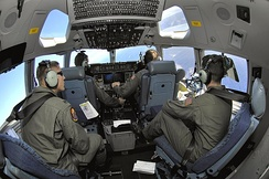 A training mission in 2007 over the Hawaiian Islands with one of Hickam AFB's first C-17
