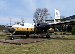 A C-7 Caribou at the U.S. Army Transportation Museum, Fort Eustis, Virginia