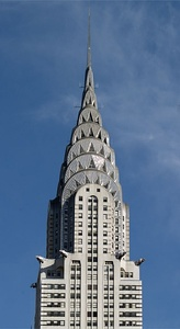 The Art Deco Chrysler Building in New York City (1930)