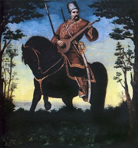 Cossack Mamay--the ideal image of Cossack in Ukrainian folklore.